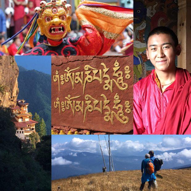 bhutan collage