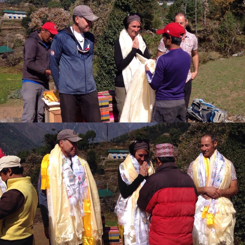 saying thank you w prayer scarves