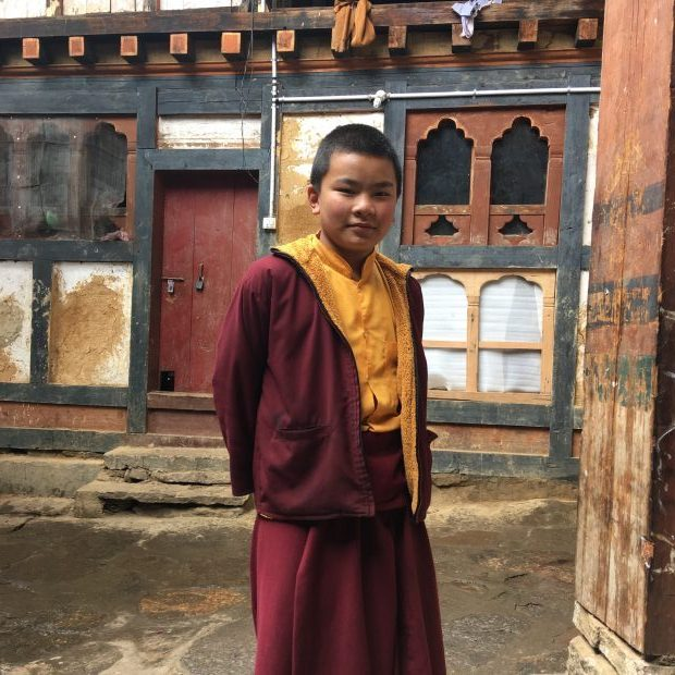 At age 12, this boy chose to leave his family to become a monk