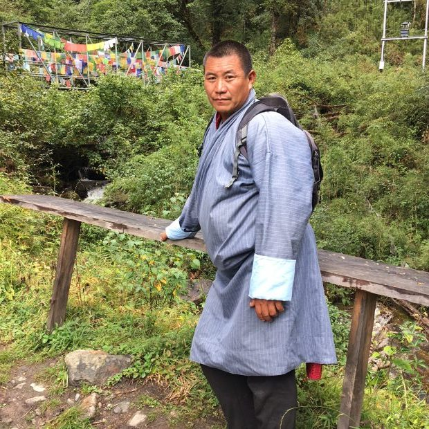 This man makes a 5-hour hike to a forest temple 3 times every month.