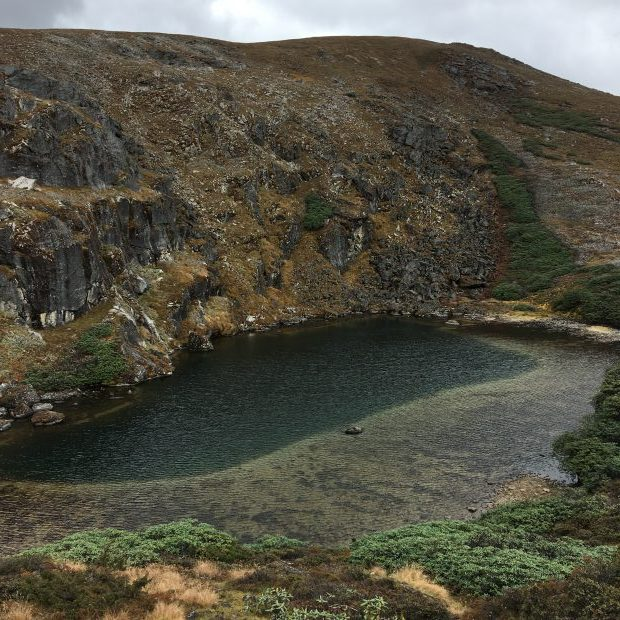 Alpine lake that is home to a sacred yak deity--herders make offerings here as they head to higher pastures in the spring or lower pastures in the fall.
